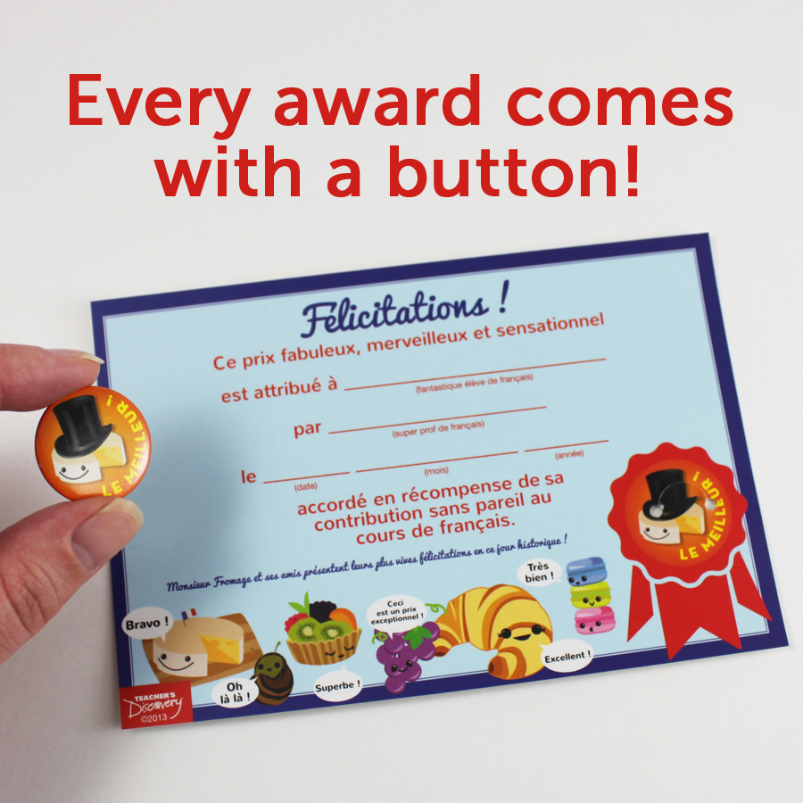 Monsieur Fromage Mini Button Awards