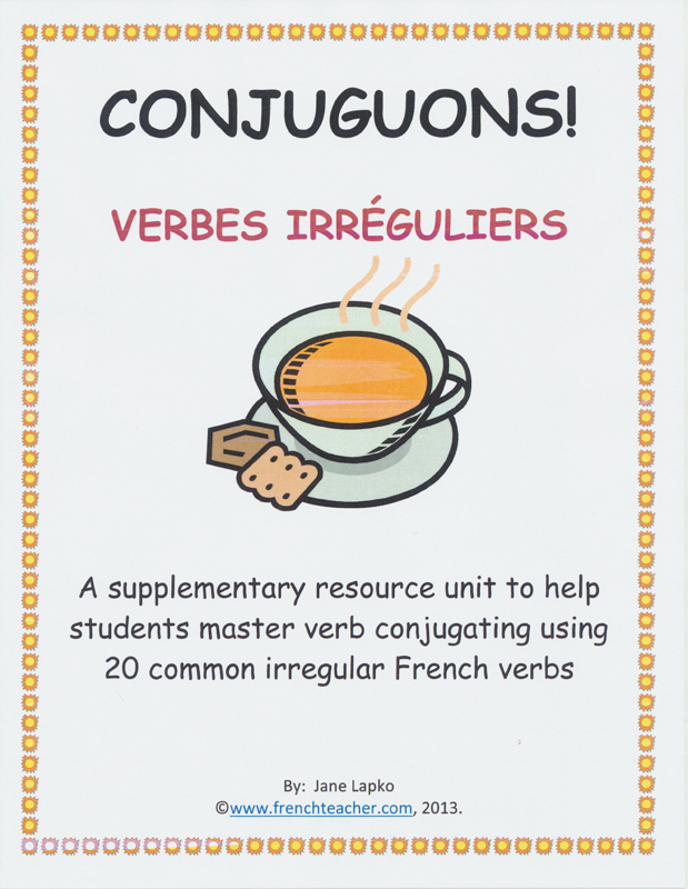 Conjuguons! Verbes Irréguliers Activity Packet