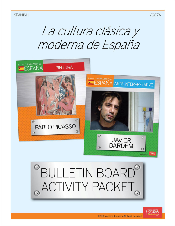 La cultura moderna y clásica de España Bulletin Board Set