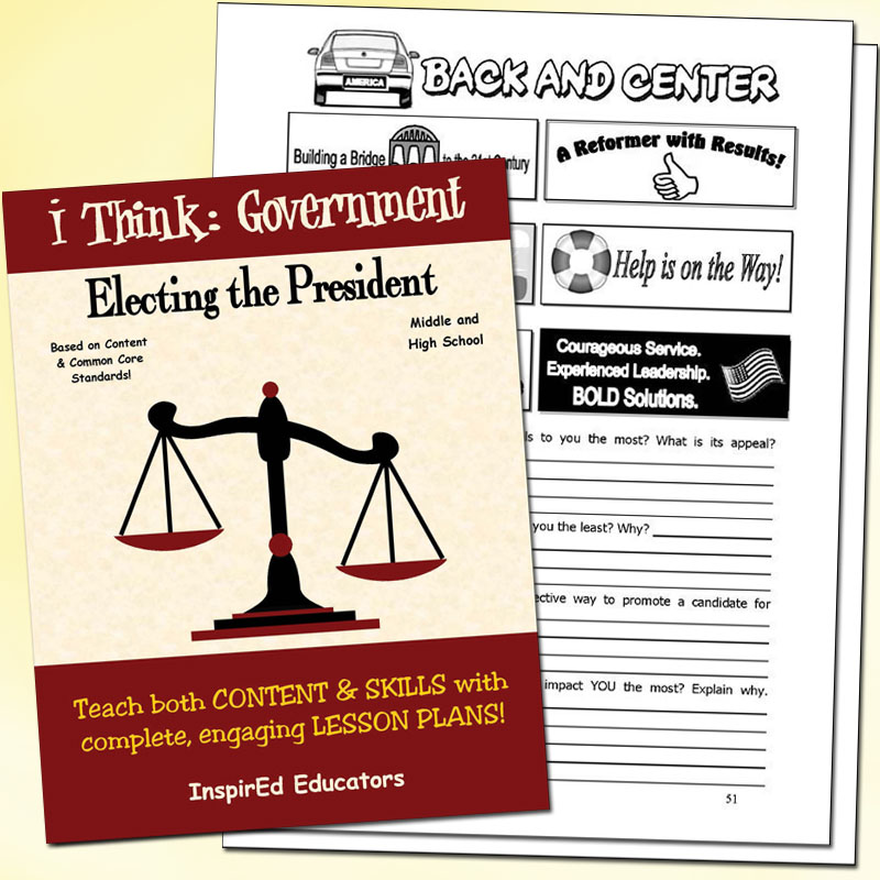 i Think: Government, Electing the President Activity Book