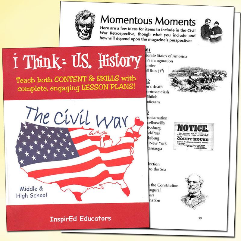i Think: U.S. History, The Civil War Activity Book