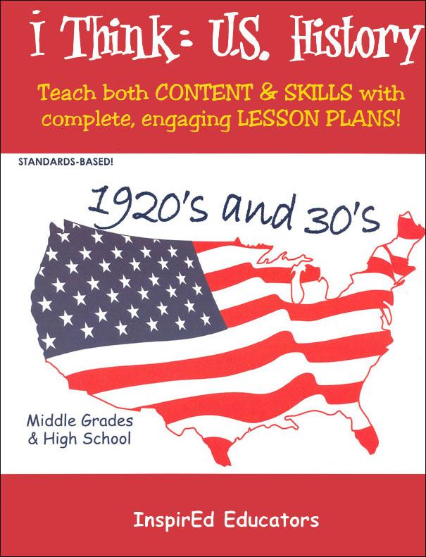 i Think: U.S. History, 1920s & 30s Activity Book