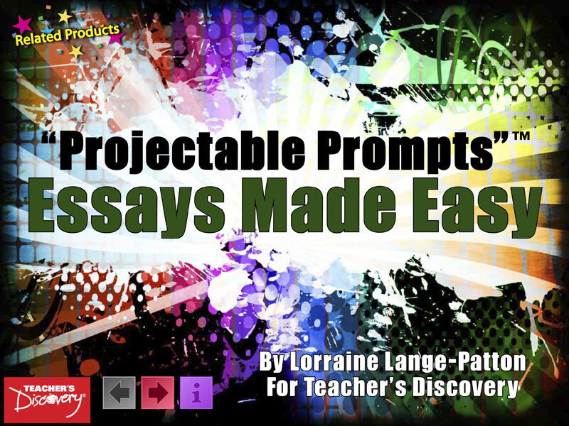 Essays Made Easy Projectable Prompts