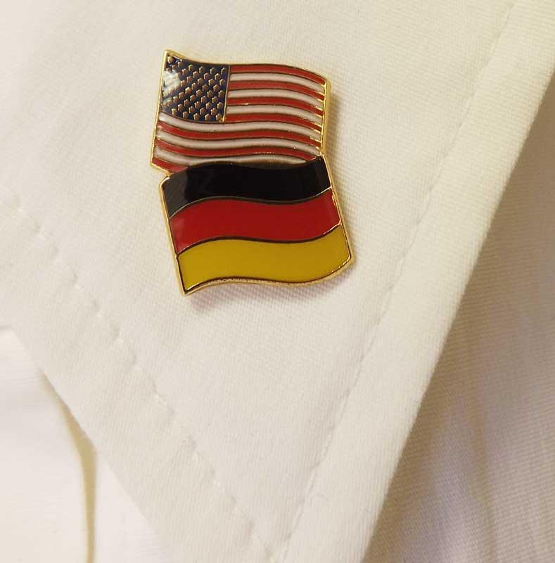 Germany/USA Flag Pin