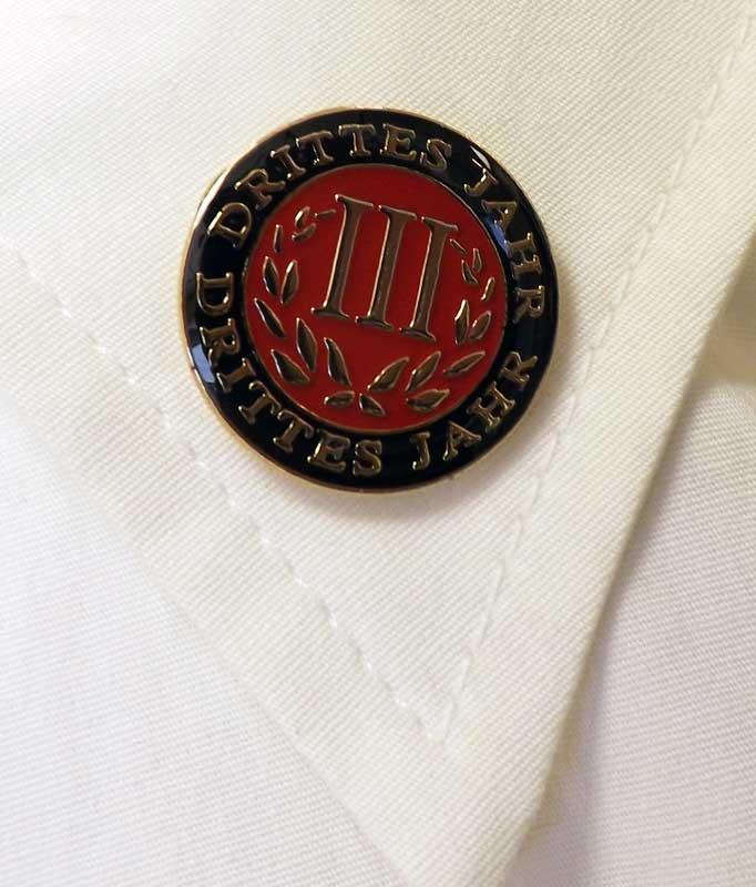 German Third-Year Pin