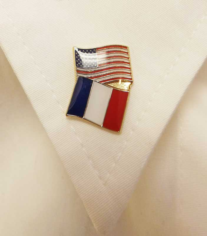France/USA Flag Pin