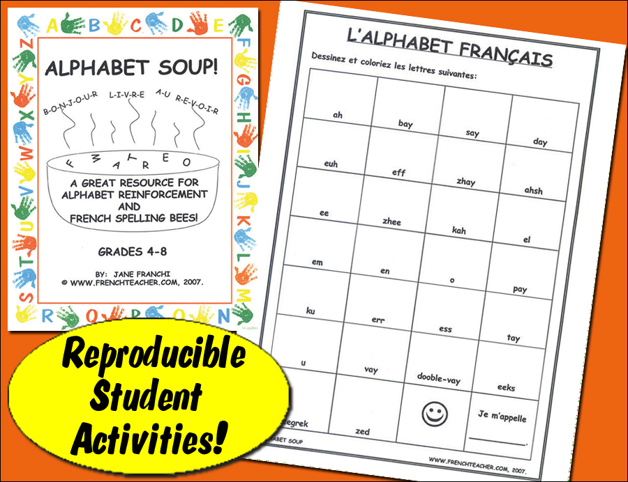 Alphabet Soup French Activity Packet