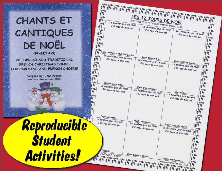 Chants et Cantiques de Noël Activity Packet