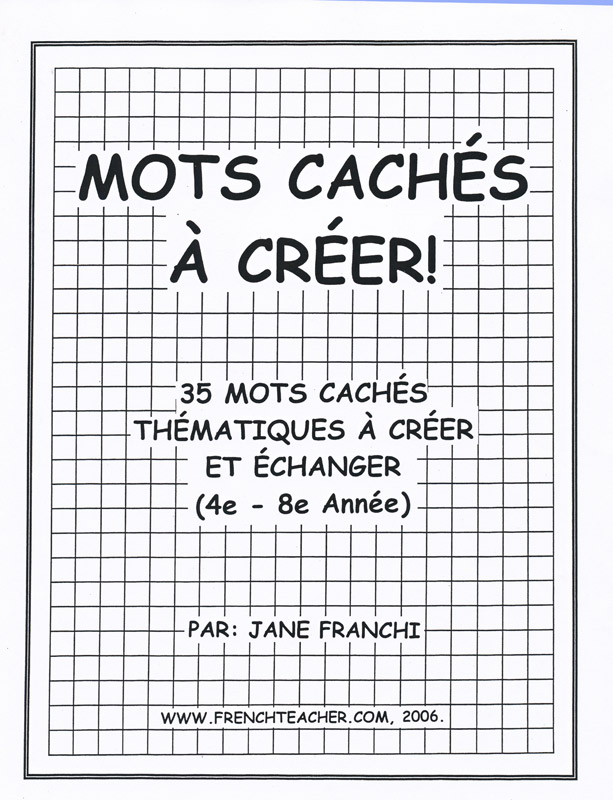 Mots caches a creer French Activity Packet