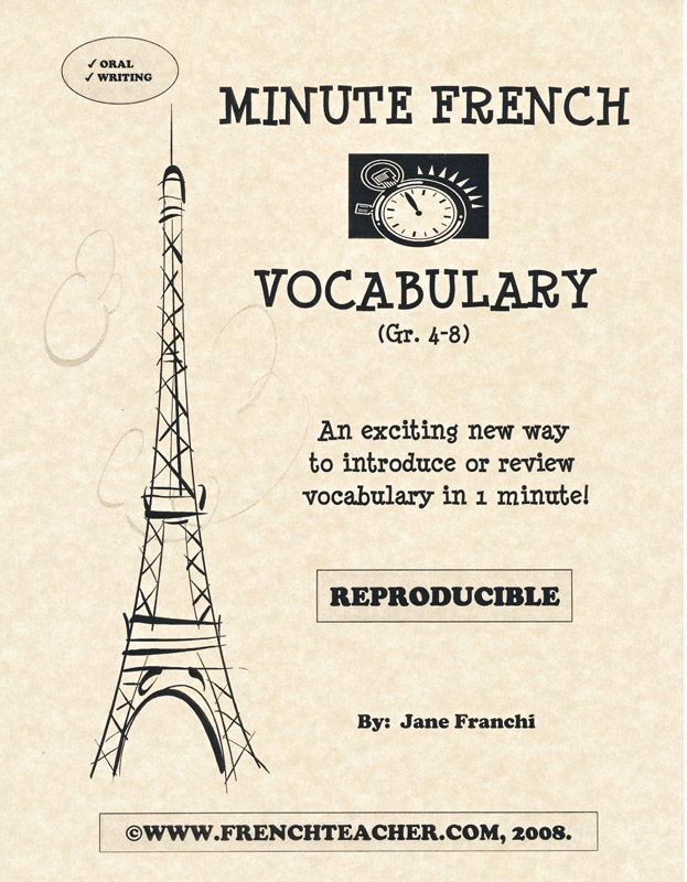 Minute French Vocabulary Activity Packet