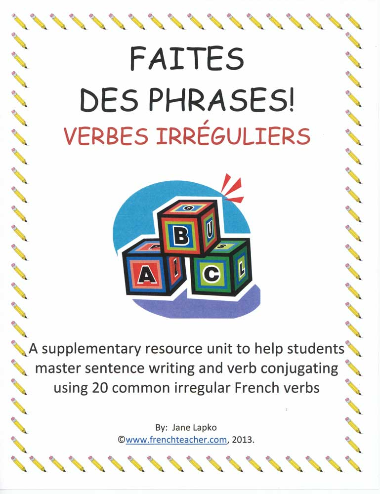 Faites des Phrases - French Book