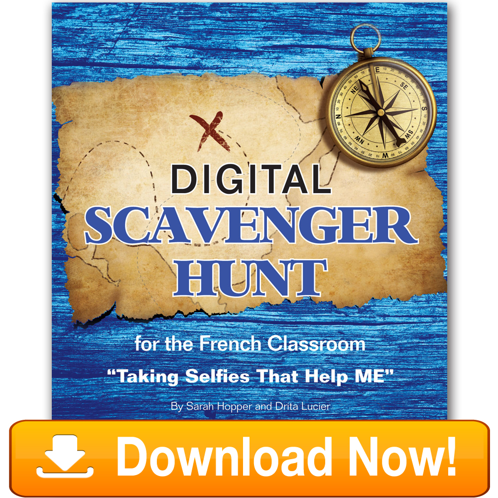 French Digital Scavenger Hunt Book