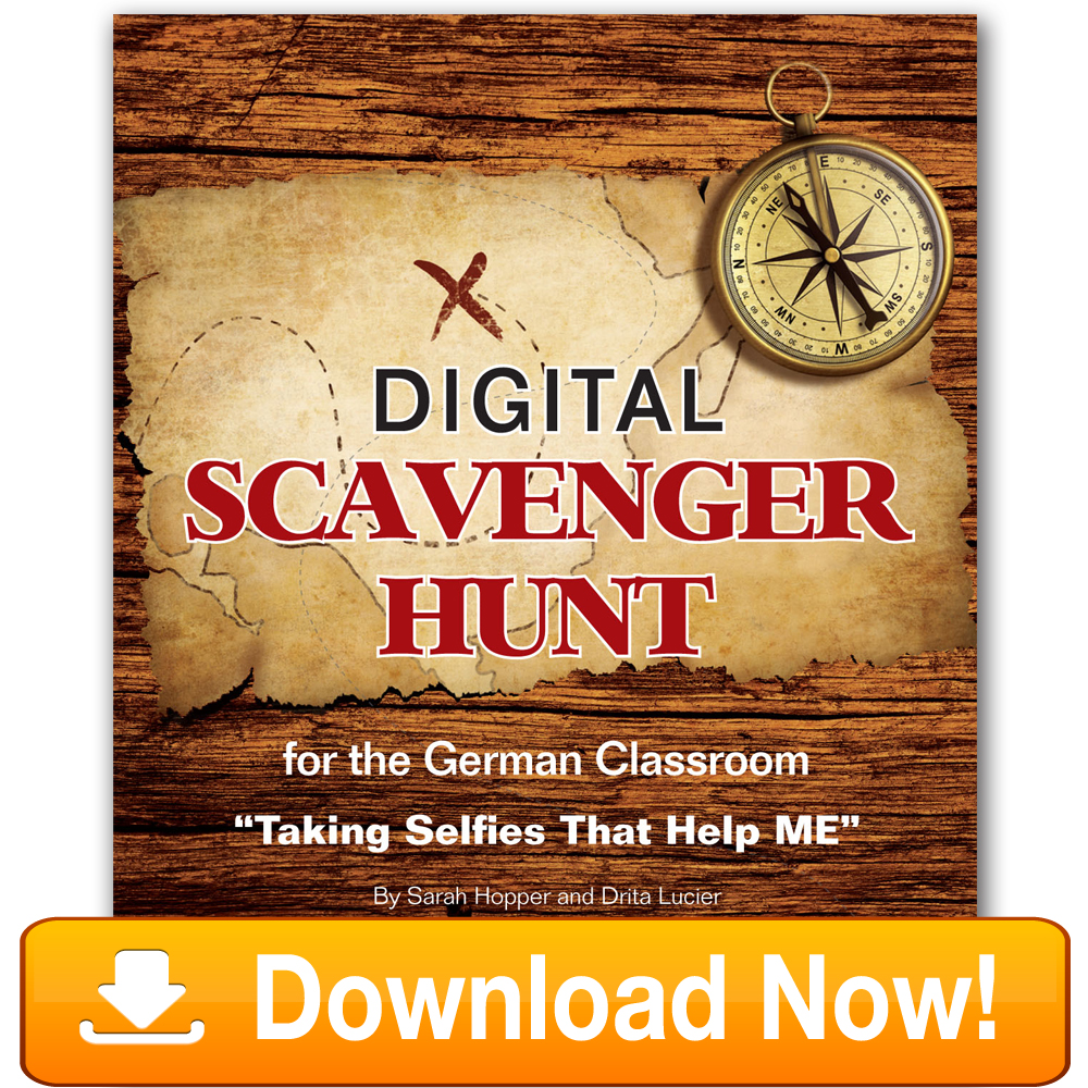 German Digital Scavenger Hunt Book