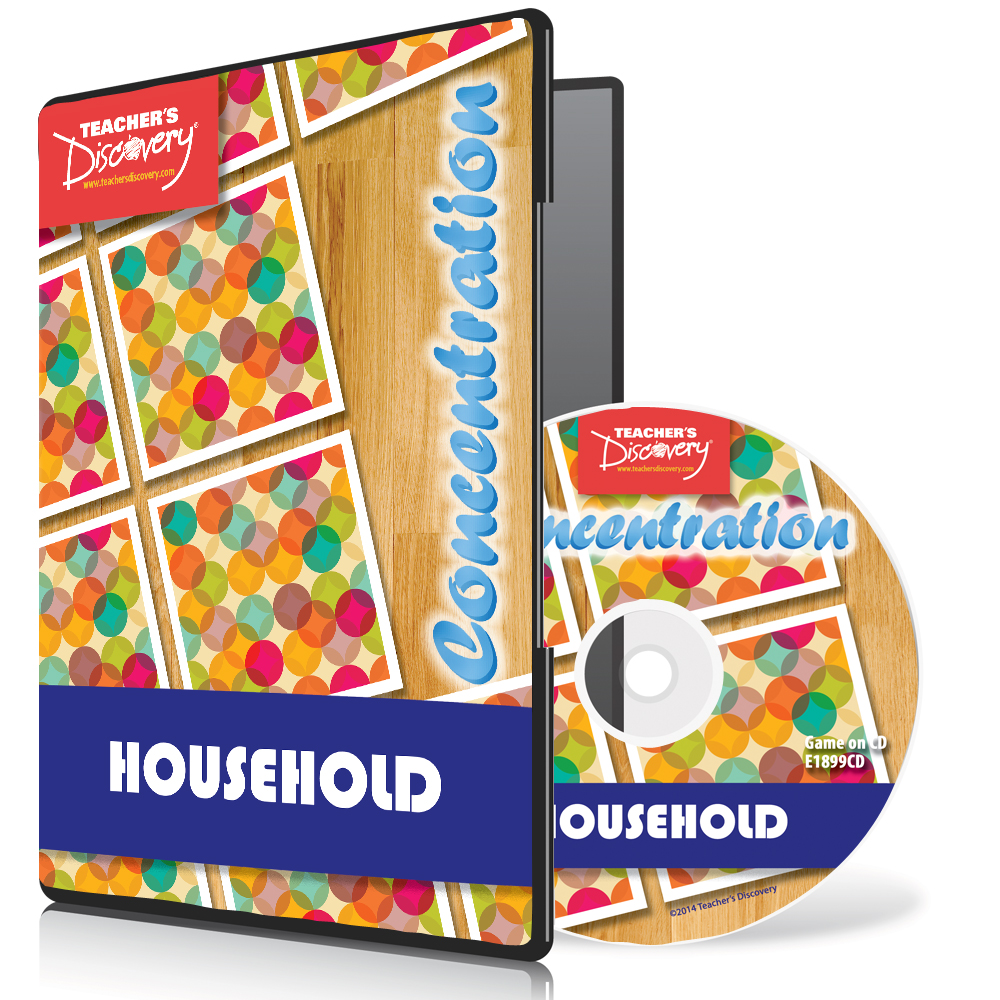 Household Nouns Spanish Concentration Game 2014