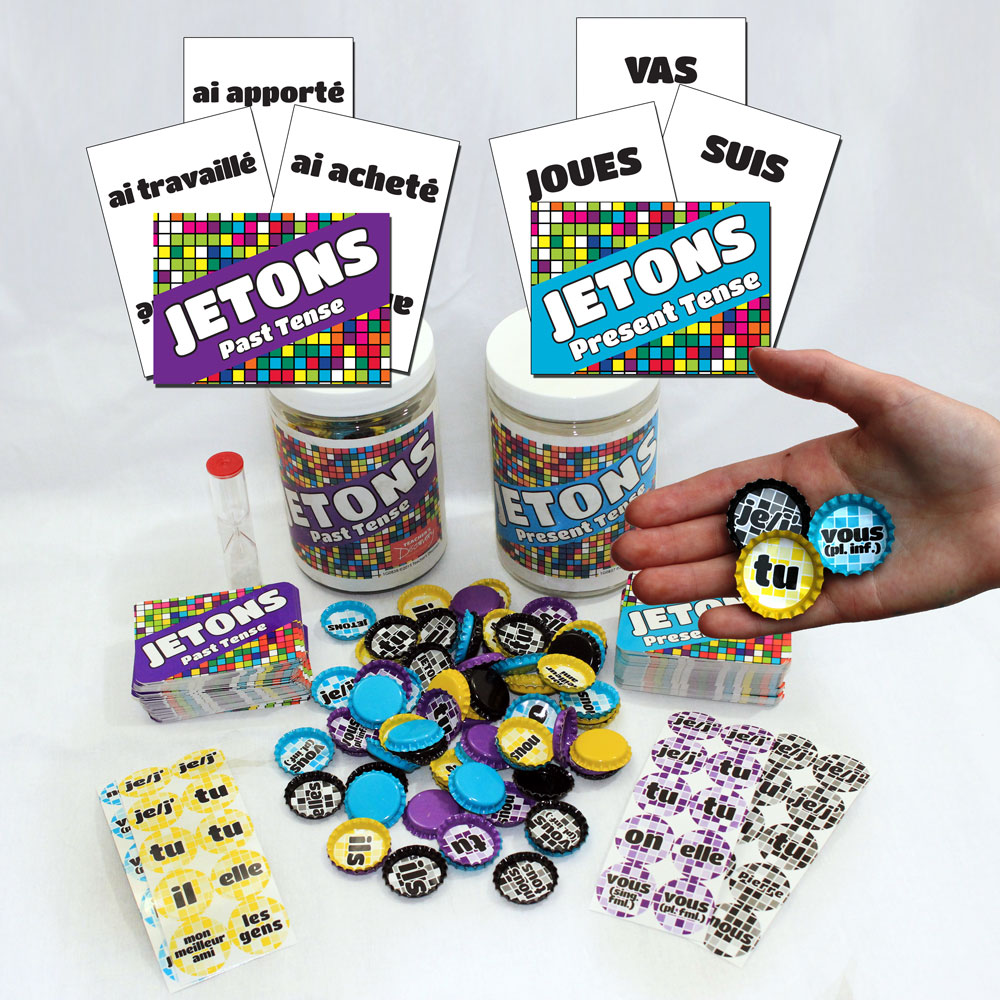 Jetons Present and Past Tense Card Games