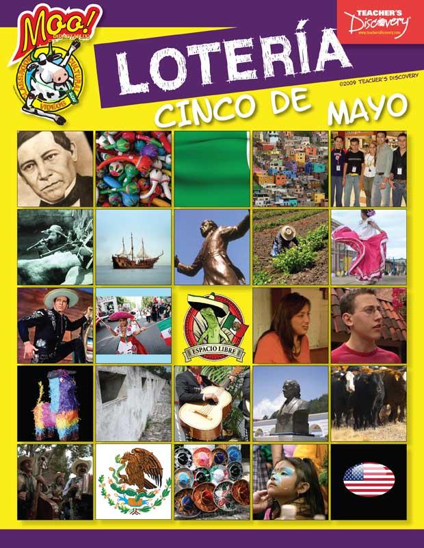 Moo! Spanish Cinco De Mayo Bingo Game