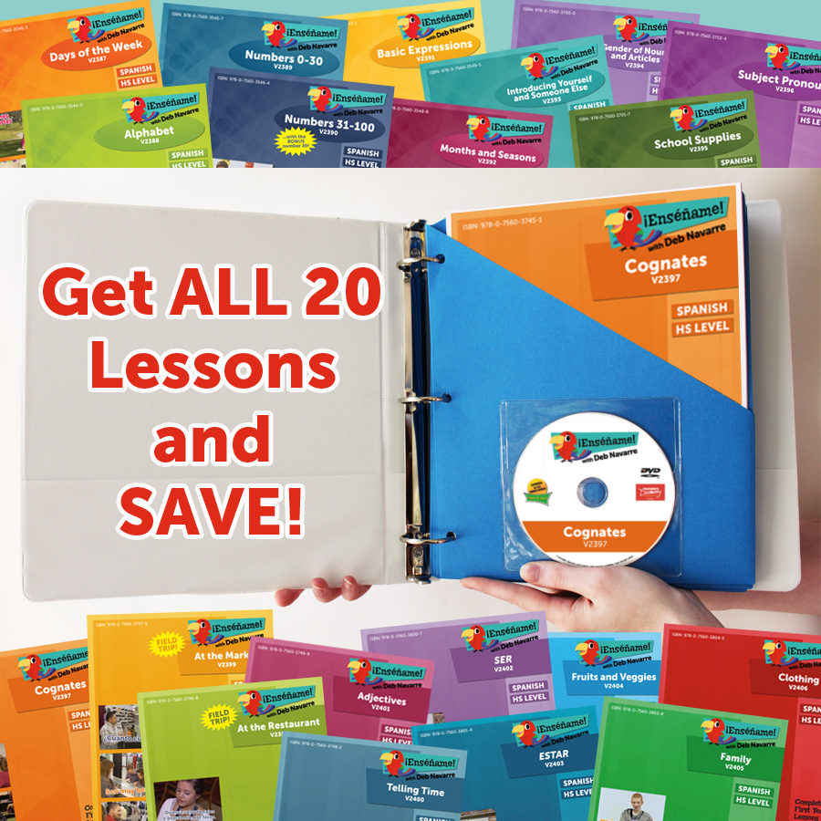 ¡Enséñame!™ Complete First Year Set of 20 Lessons