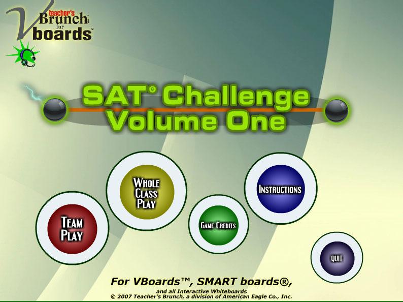 SAT Challenge Game