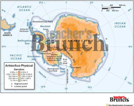Antarctica Physical & Political Digital Map Set