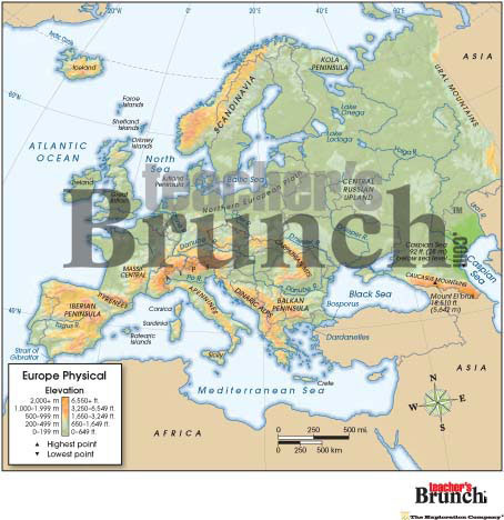 Europe Physical & Political Digital Map Set