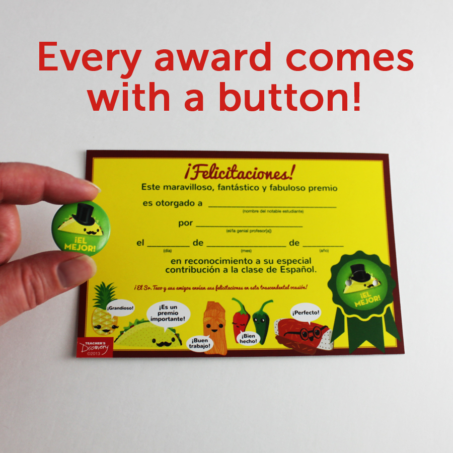Senor Taco Mini Button Awards