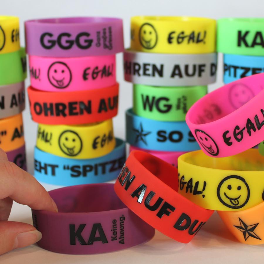 Big Bold German Wristbands