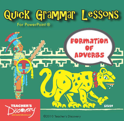 Formation of Adverbs Spanish PowerPoint CD