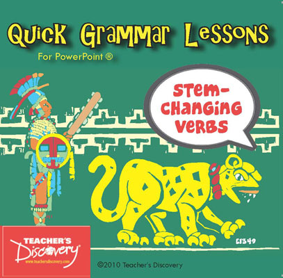 Stem-changing Verbs Spanish PowerPoint CD