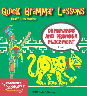 Commands and Pronoun Placement Adobe Flash Presentation on CD