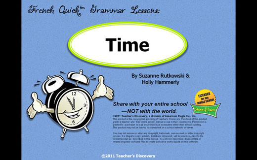 Time French PowerPoint on CD