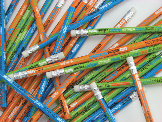 Adjectives Spanish Pencils Assorted 12 Dozen (144)
