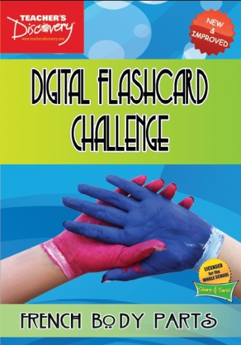 Digital Flashcard Challenge Game French Body Parts
