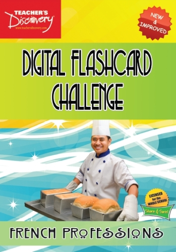 Digital Flashcard Challenge Game French Professions