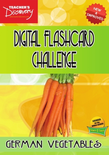 Digital Flashcard Challenge Game German Vegetables