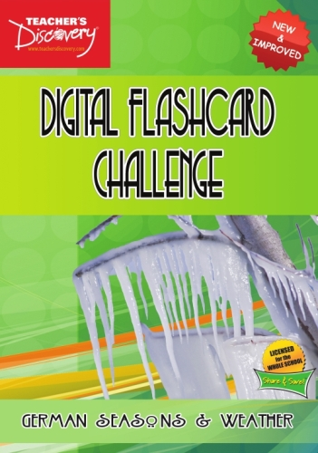 Digital Flashcard Challenge Game German Seasons and Weather