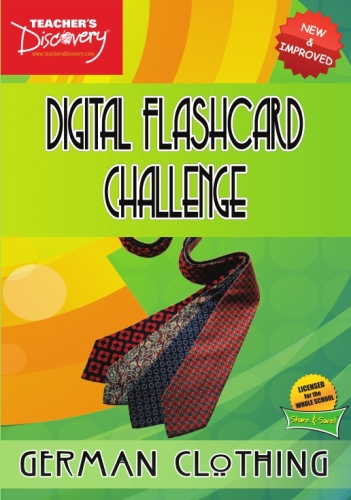 Digital Flashcard Challenge Game German Clothing CD-ROM