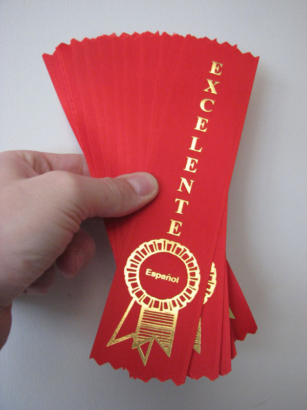 Red Excelente Ribbons