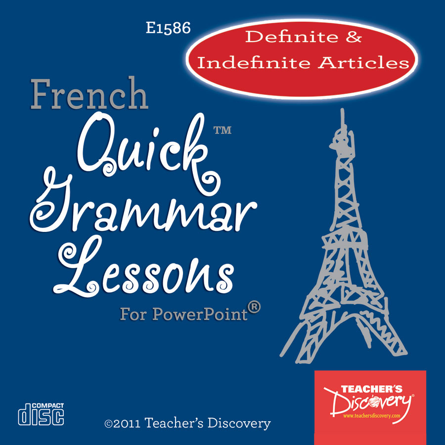 Definite & Indefinite Articles French PowerPoint on CD