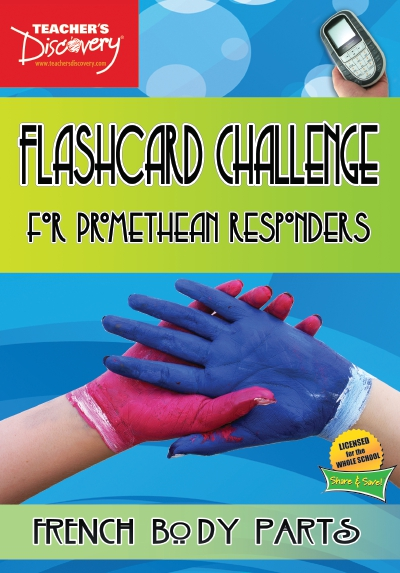 French Digital Flashcard Challenge Promethean Set of 10