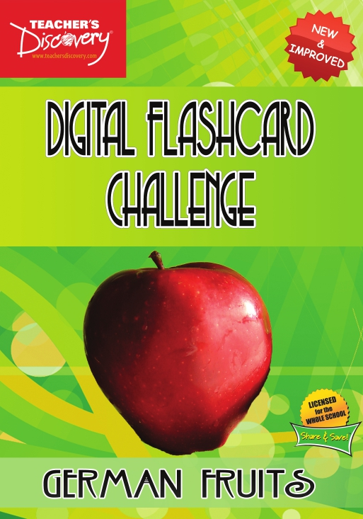 Digital Flashcard Challenge Game German Fruits