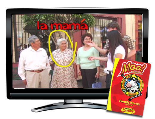 Family Nouns Vocabulary Spanish DVD