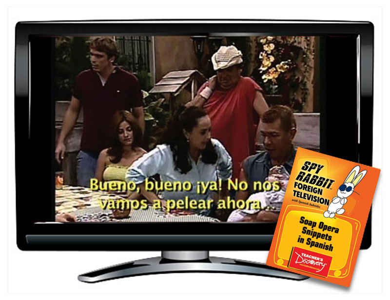 Soap Opera Snippets in Spanish Spy Rabbit DVD