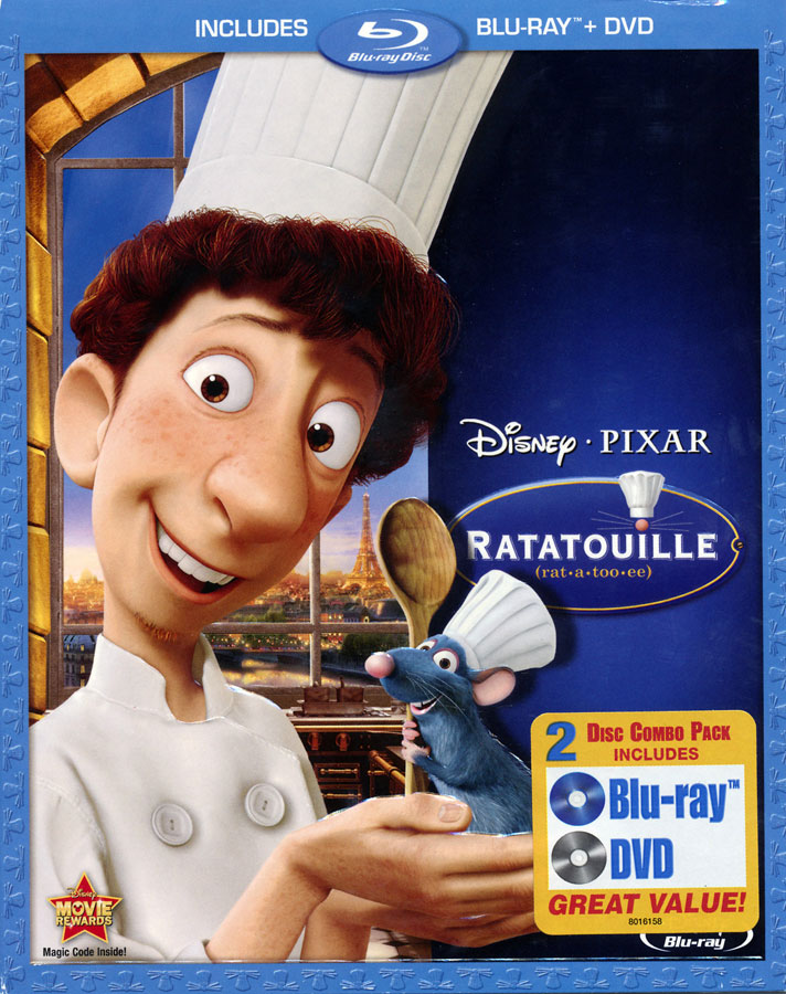 Ratatouille Spanish / French / English Blu-Ray & DVD Combo
