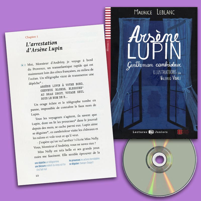 Arsène Lupin, gentleman cambrioleur French Reader + Audio CD Lectures Juniors Niveau 1