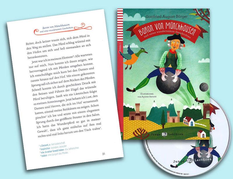Baron von Münchhausen und seine wundersamen Geschichten Reader + CD Junge Lektüren Niveau 1