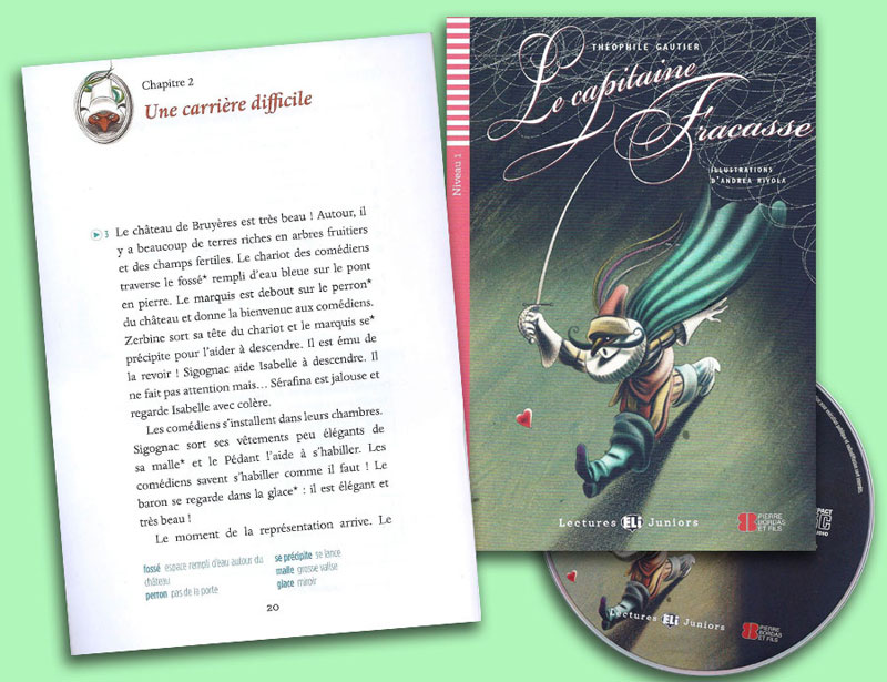 Le Capitaine Fracasse French Reader + Audio CD Lectures Juniors Niveau1