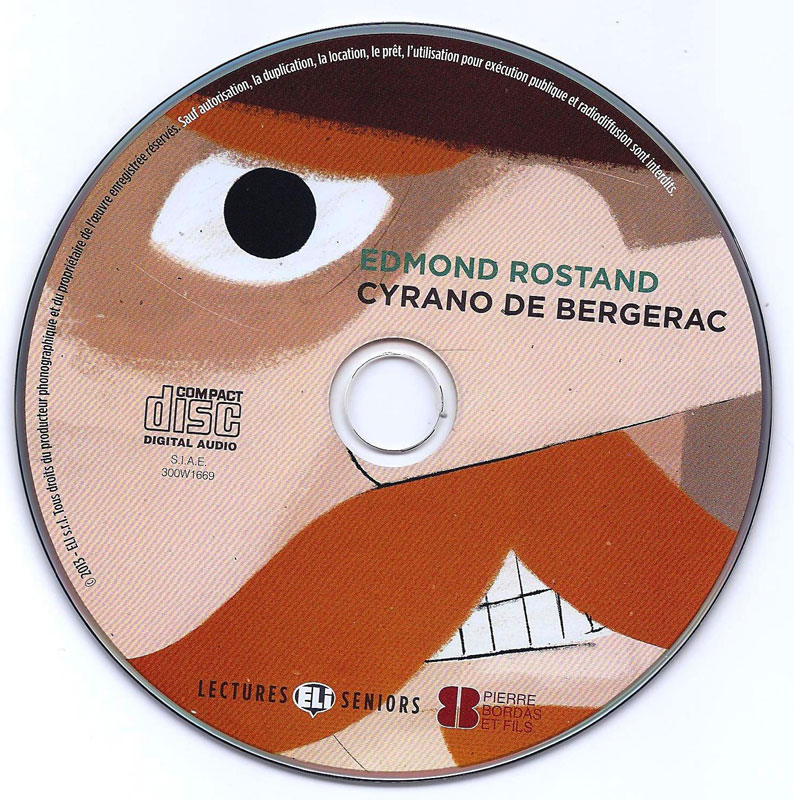 cyrano de bergernac Cyrano de bergernac french reader and cd meet cyrano de bergerac, an incredible orator, poet and swordsman the only thing holding him back from confessing his love to the beautiful roxanne is his ridiculously large nose.