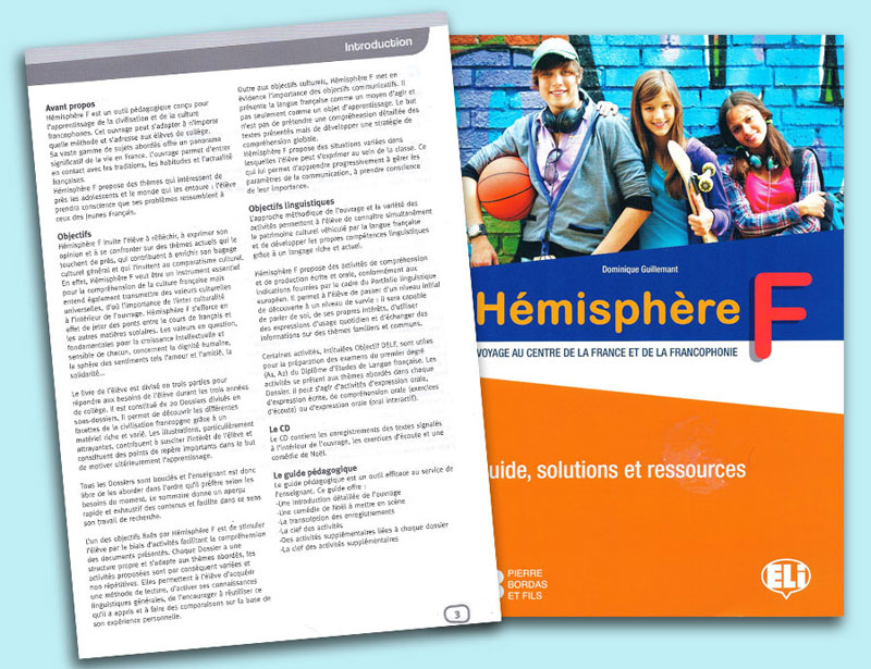 Hémisphére F Voyage au Centre de la France et de la Francoophonie Teacher's Guide