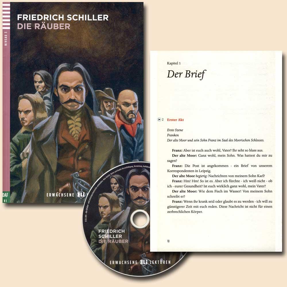 Die Räuber German Reader + Audio CD Erwachsene Lektüren Niveau 3