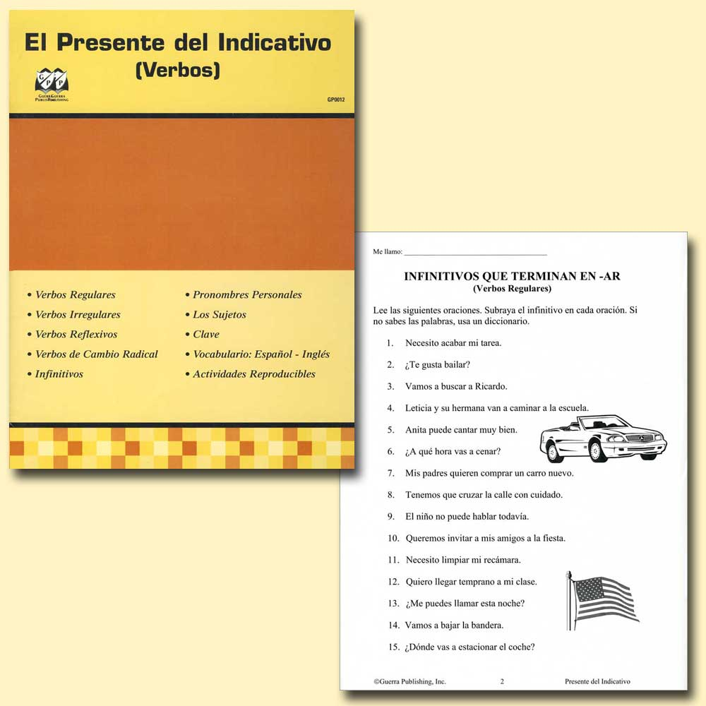 El Presente del Indicativo (Verbas) Spanish Activity Book